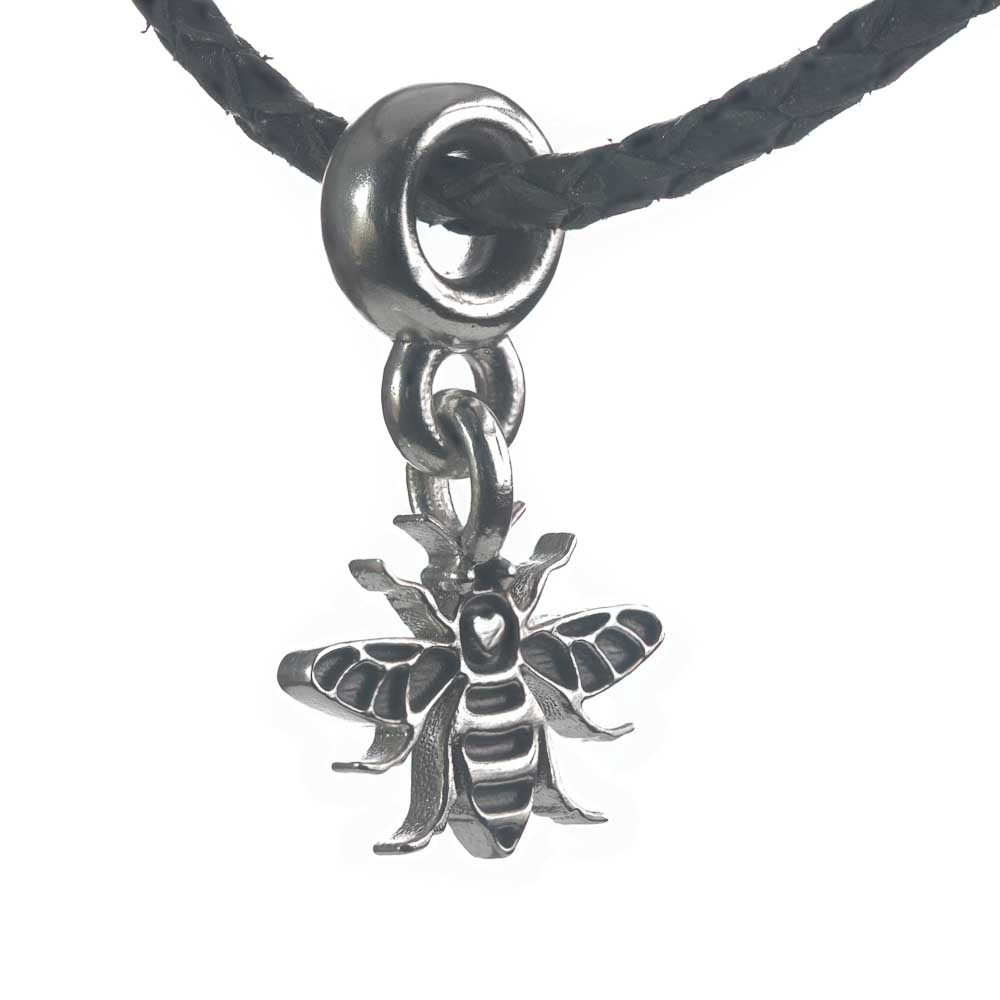 Manchester Bee silver charm