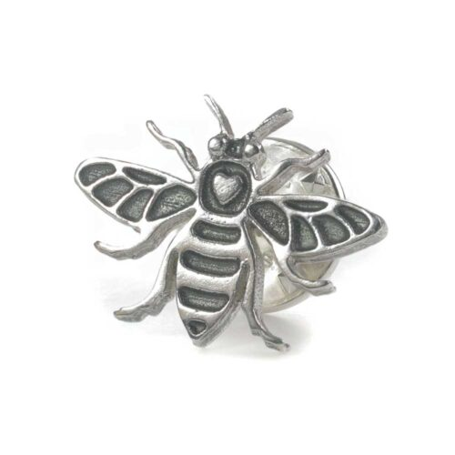 Manchester Bee silver pin