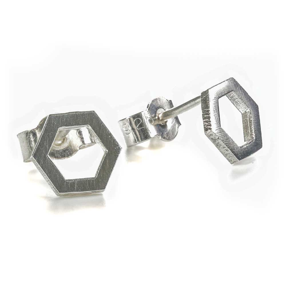 Hive hexagon earrings