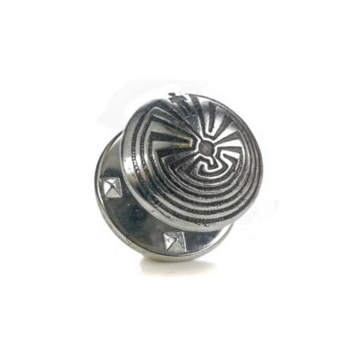 Man in the Maze silver pin