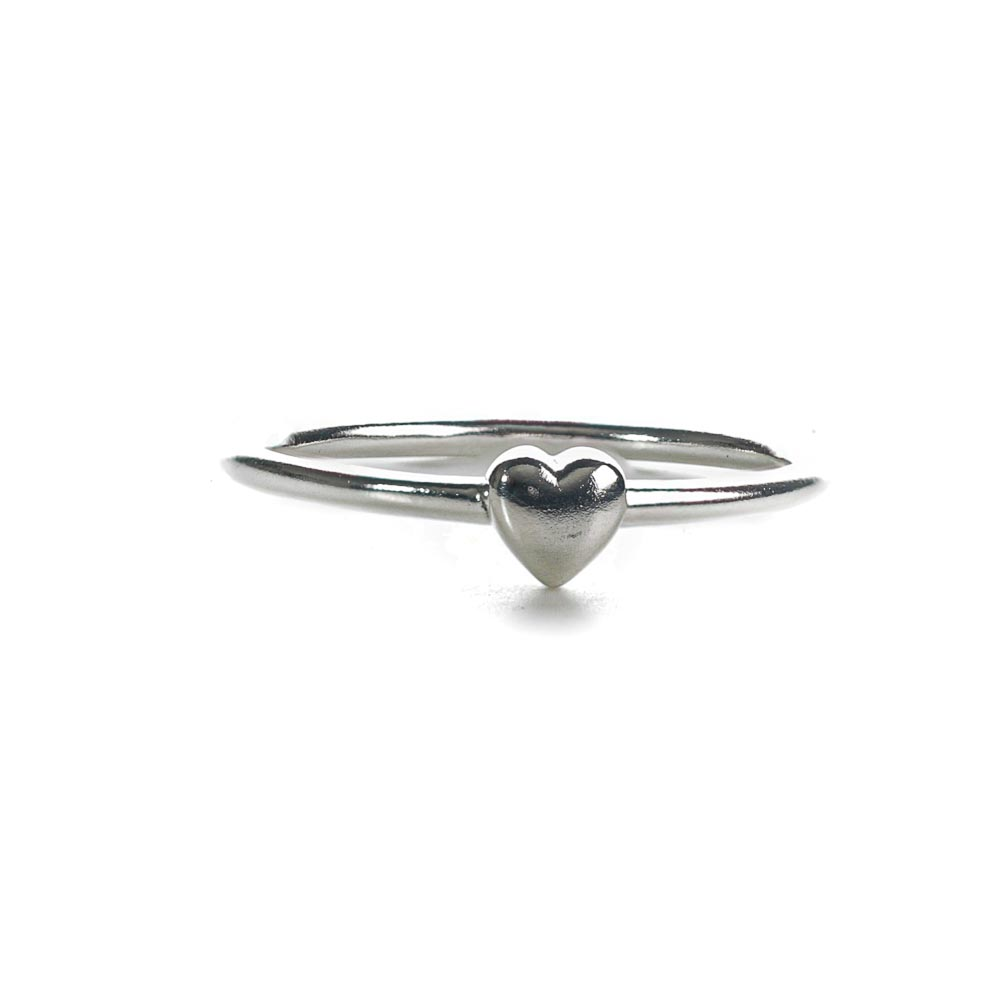 Mini heart ring, sterling silver