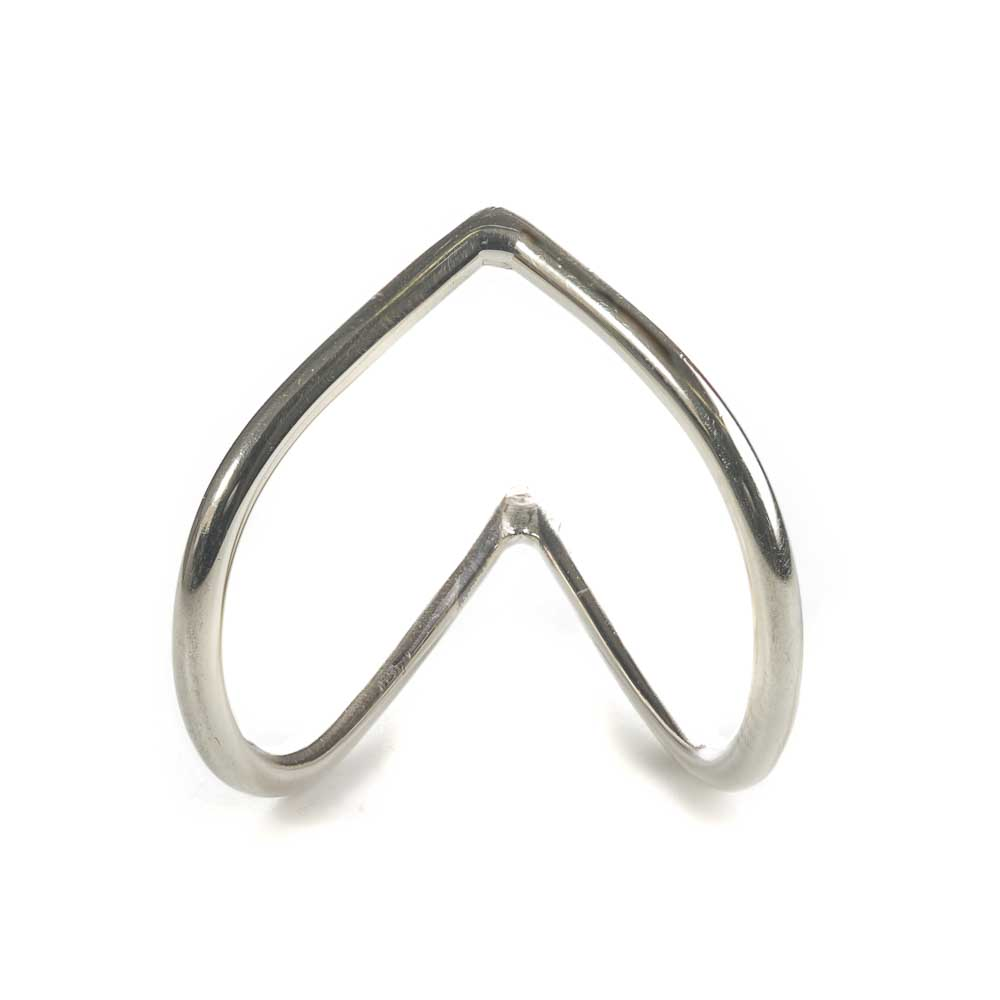 Shaped Heart ring silver