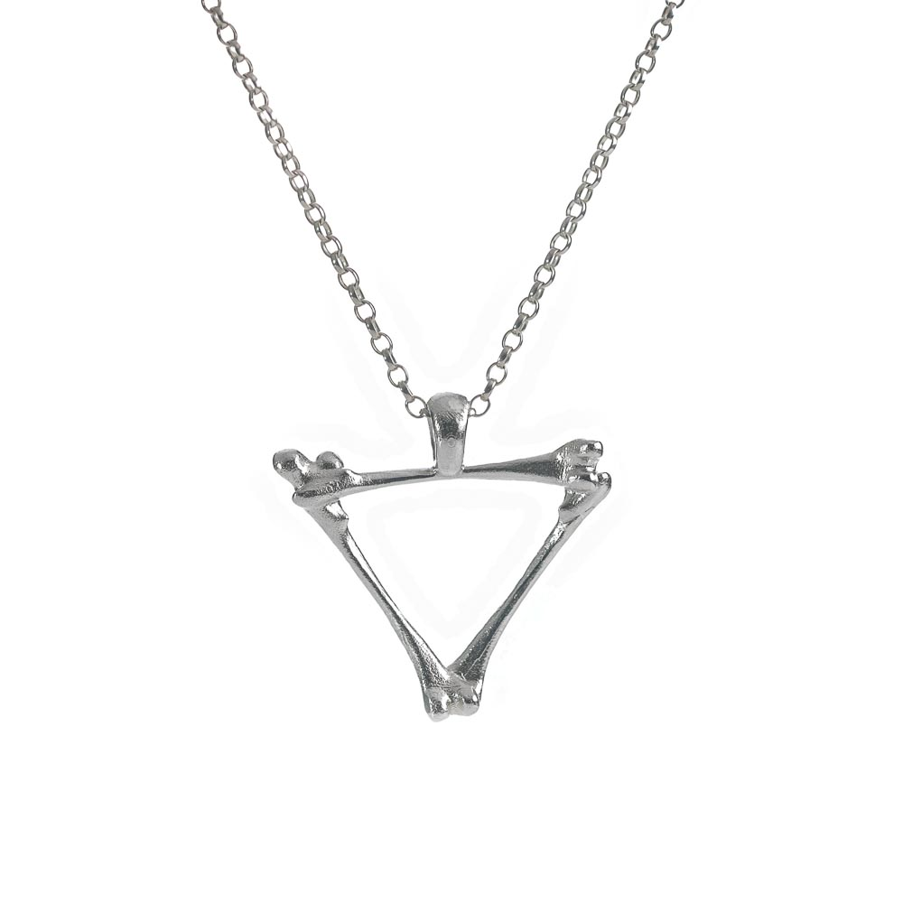 sterling silver alchemy air bones sterling silver necklace