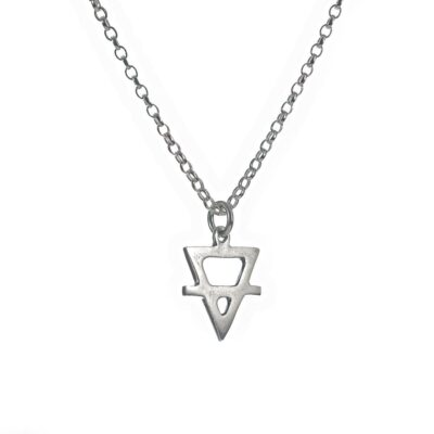 sterling silver alchemy earth sterling silver pendant necklace