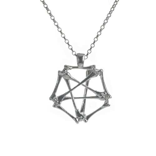 sterling silver alchemy pentagram sterling silver necklace