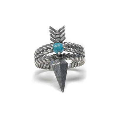 Quanna arrow ring with turquoise stone