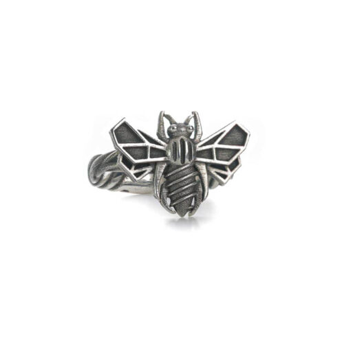 Screw Bee Do sterling silver bee ring