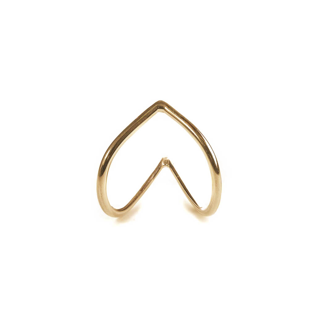 Shaped Heart gold ring
