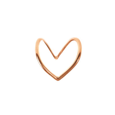 Shaped Heart rose gold ring